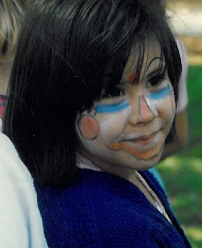 girl with the colorful face